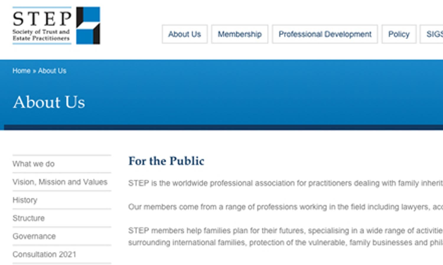 step society of trust and estate practitioners chapman eastway daniel baldovin and luke day have all become members of step recently step is the worldwide professional association for practitioners dealing